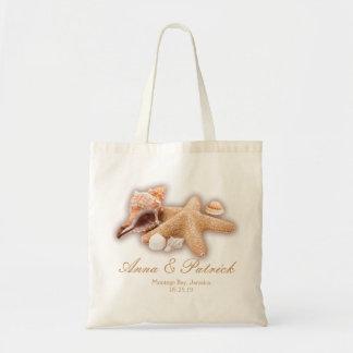 Seashells Beach Destination Wedding Personalized Tote Bag