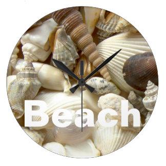 Seashells Beach Wall Clock