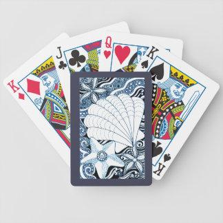 Seashells Bicycle Playing Cards