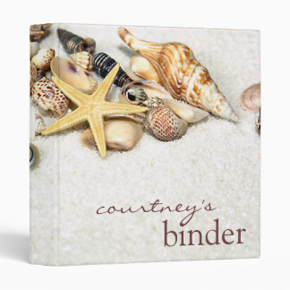 Seashells Binder Personalized