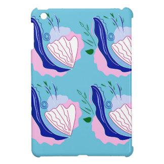 Seashells blue on white iPad mini covers