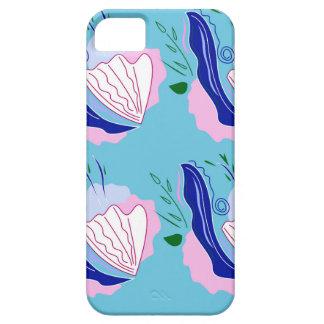 Seashells blue on white iPhone 5 cover