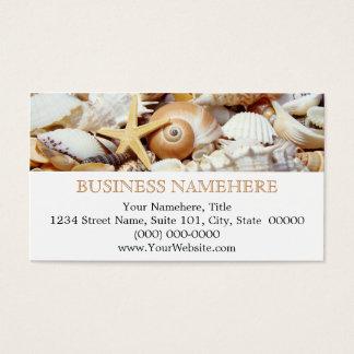 Custom seashells sea shells business cards zazzle seashells business cards colourmoves