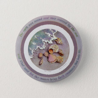 SEASHELLS by the SEASHORE by SHARON SHARPE 2 Inch Round Button