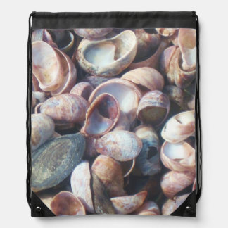 Seashells By The Seashore Drawstring Bag