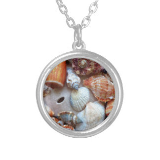 Seashells by the Seashore Silver Plated Necklace