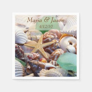 Seashells Custom Napkins Paper Napkin