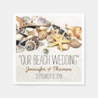 Seashells Custom Wedding Napkins Disposable Napkin