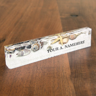 Seashells Desk Nameplate
