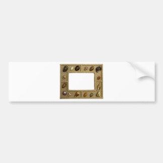 Seashells frame bumper stickers