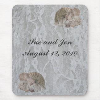 SeaShells & Lace Mouse Pad