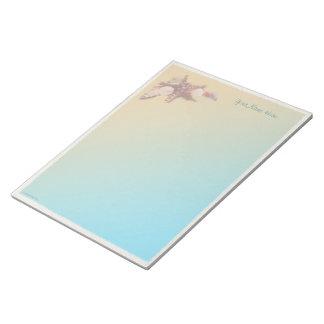 Seashells on a Beach Notepad