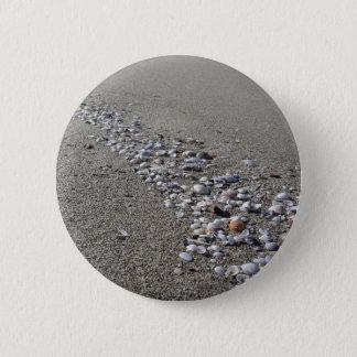 Seashells on sand. Summer beach background 2 Inch Round Button