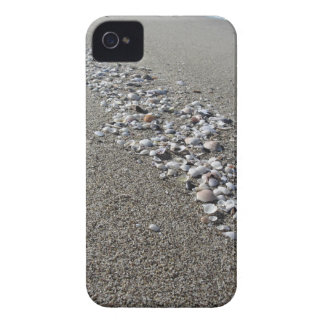 Seashells on sand. Summer beach background iPhone 4 Case
