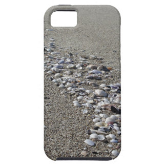 Seashells on sand. Summer beach background iPhone 5 Cases