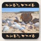 Seashells on the Beach by Shirley Taylor Coaster