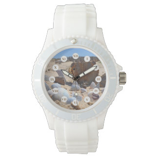 Seashells on the Beach by Shirley Taylor Wristwatches