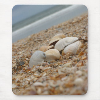 Seashells on the beach mousepad quanity discount