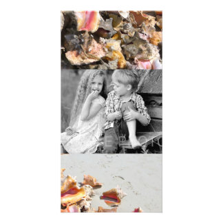 Seashells on the Beach | Turks and Caicos Photo Personalized Photo Card