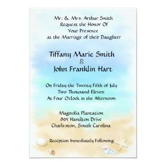 Seashells on the Beach  Wedding Invitations