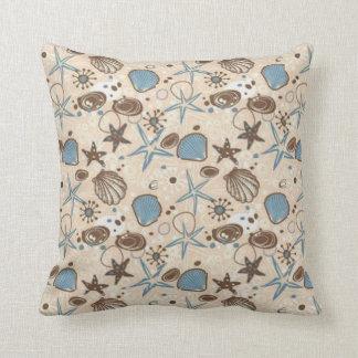 Seashells On The Sand Throw Pillow