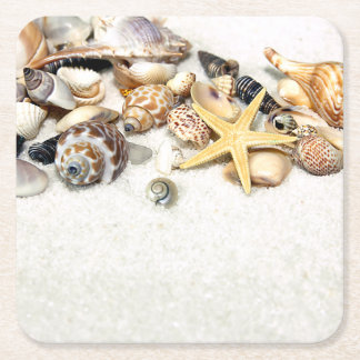 Seashells Paper Coasters