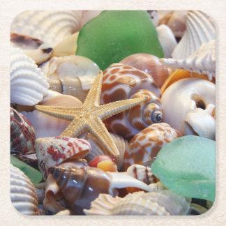 Seashells Paper Drink Coasters
