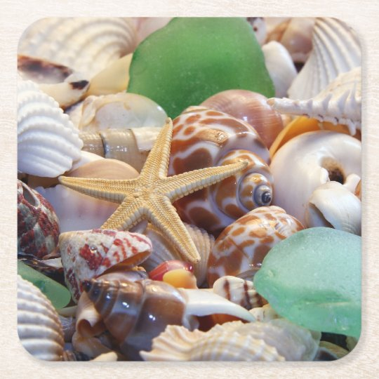 Seashells Paper Drink Coasters