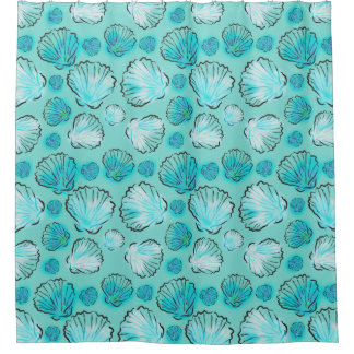 SeaShells Pattern On Sea Green