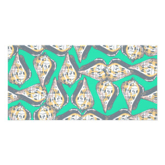 Seashells pattern picture card
