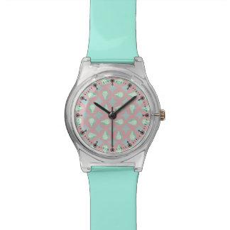 Seashells pattern wrist watch