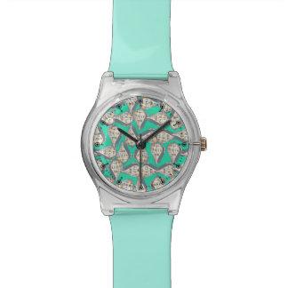 Seashells pattern wrist watches