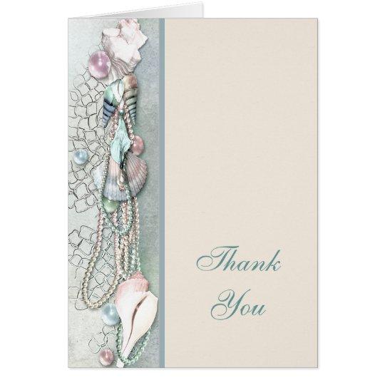 Seashells Pearls Tropical Beach Thank You Card