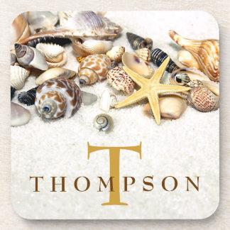 Seashells Personalized Coasters