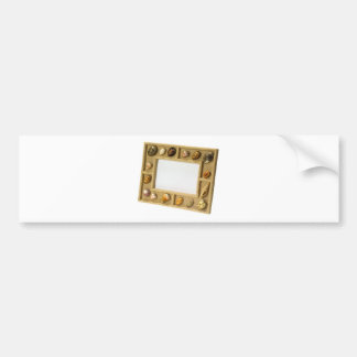 Seashells photo frame bumper sticker