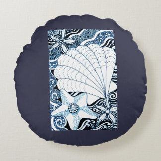 Seashells Round Pillow