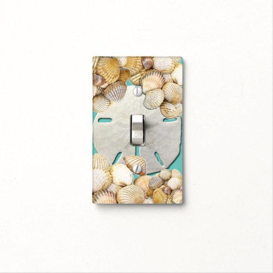 Seashells, Sand dollar, Nautical Light Switch Cover