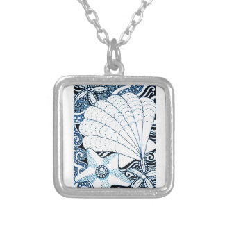 Seashells Silver Plated Necklace