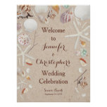 Seashells & Starfish on the Beach Wedding Poster