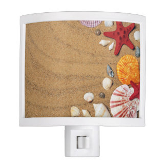 Seashells Starfish Sandy Beach Nite Lite