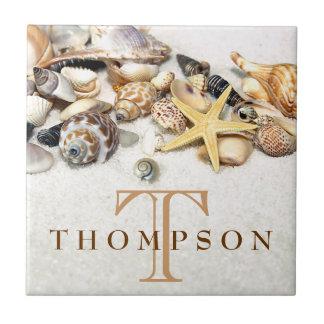 Seashells Tile Personalized