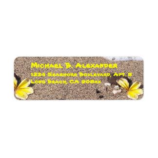 Seashore and Shells Return Address Label