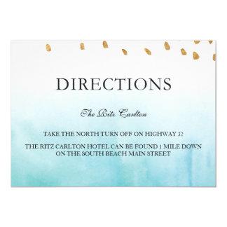 """Seashore - Directions 5"""" X 7"""" Invitation Card"""