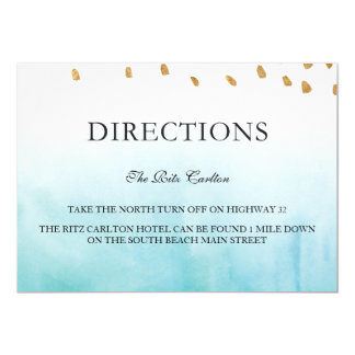 Seashore - Directions Card