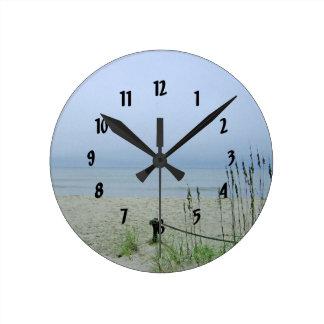 Seashore Dreamscape Round Clock