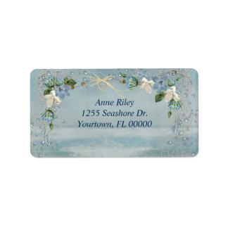 Seashore Flowers Label