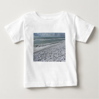 Seashore of a beach in a cloudy day at summer baby T-Shirt