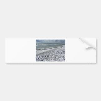 Seashore of a beach in a cloudy day at summer bumper sticker