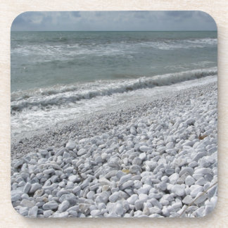 Seashore of a beach in a cloudy day at summer coaster