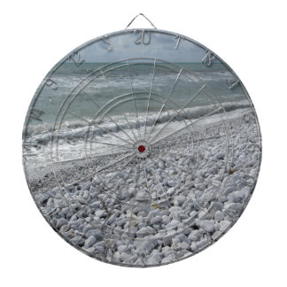 Seashore of a beach in a cloudy day at summer dartboard